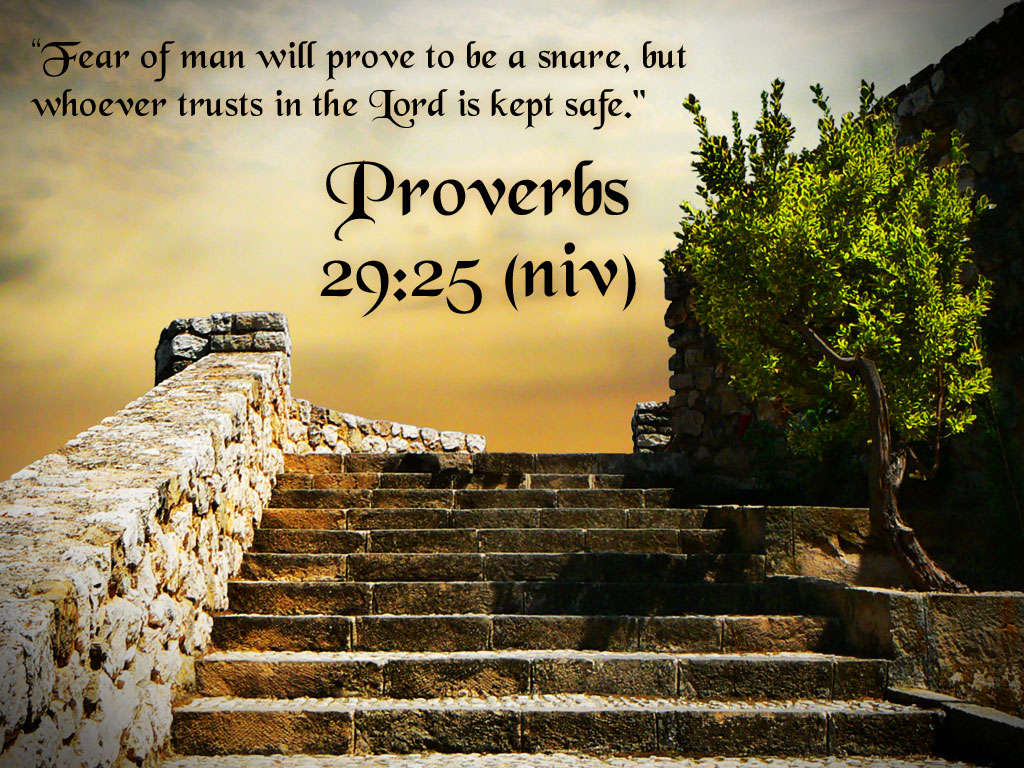 Christian Wallpapers Proverbs 29 25jpg 1024x768