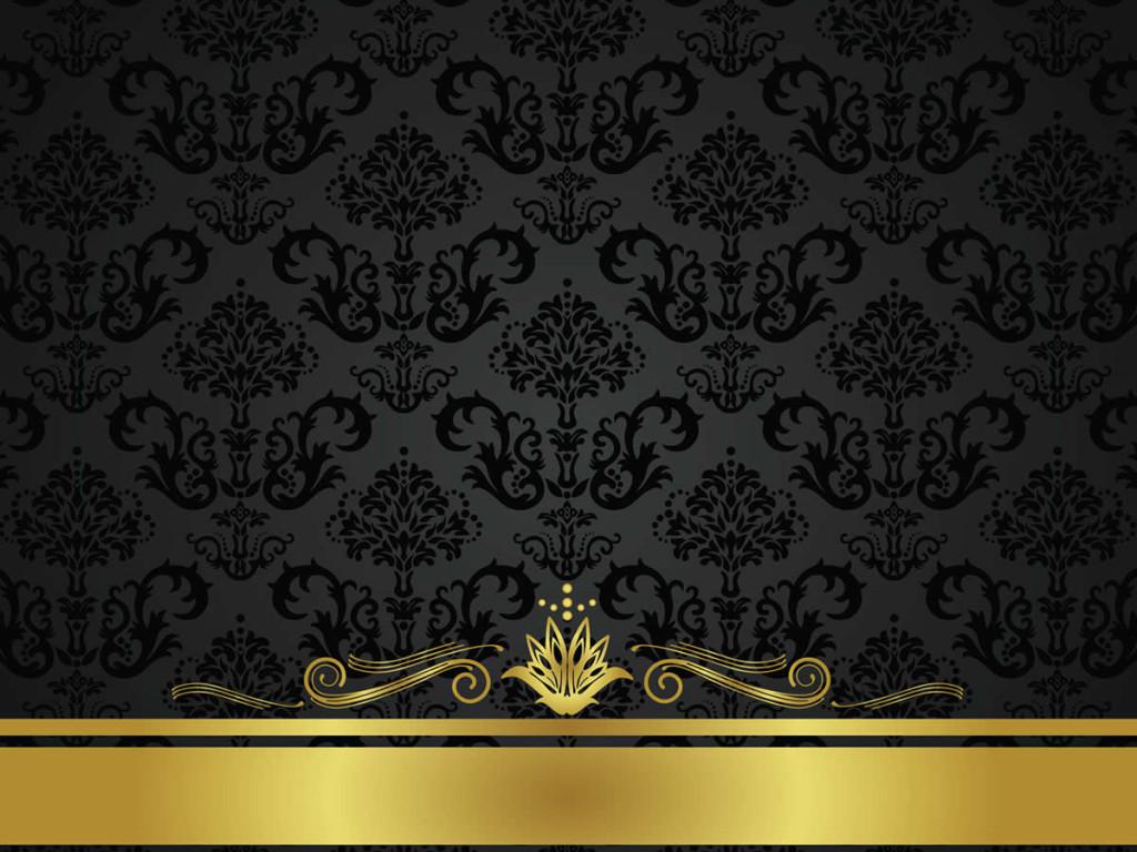 Black And Gold Vintage Wallpaper WallpaperHDCcom 1024x768