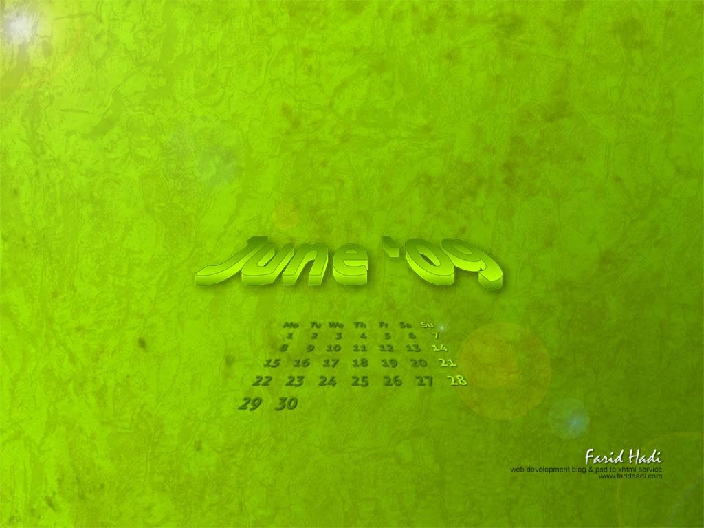Calendar wallpaper for desktop computers