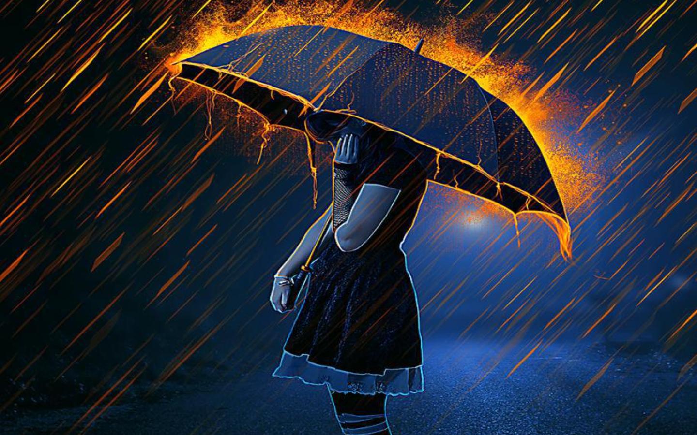 Anime Girl Umbrella