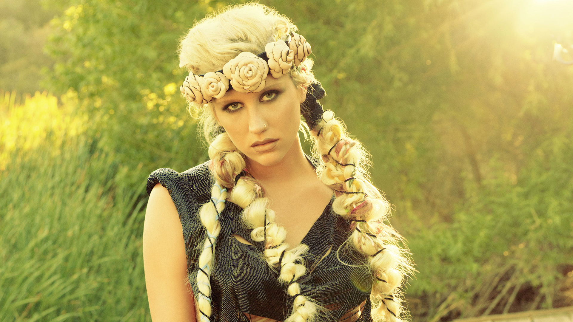 KESHA pop hip hop electronic dance women blonde blondes g wallpaper 1920x1080