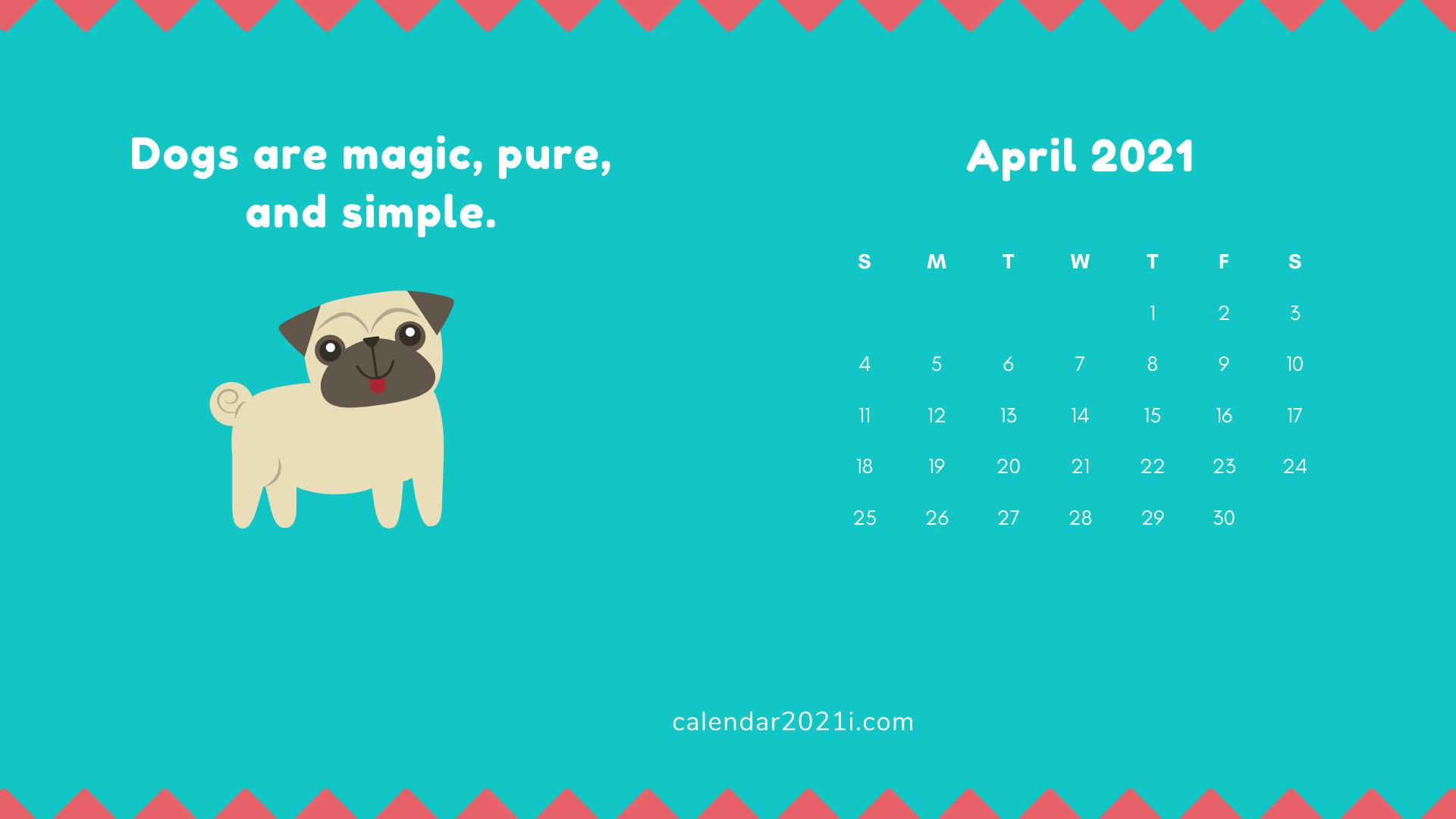 April 2021 Calendar Wallpaper Calendar wallpaper 2021 calendar 1920x1080