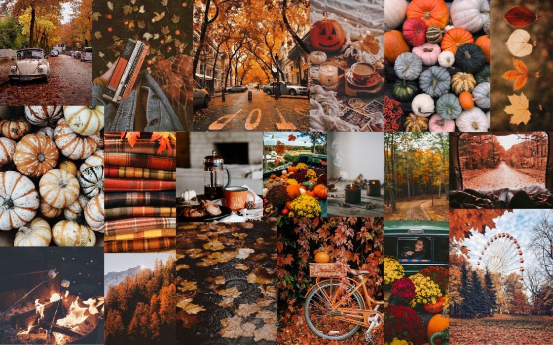 Wallpaper fall aesthetic Desktop wallpaper fall Halloween 1121x701