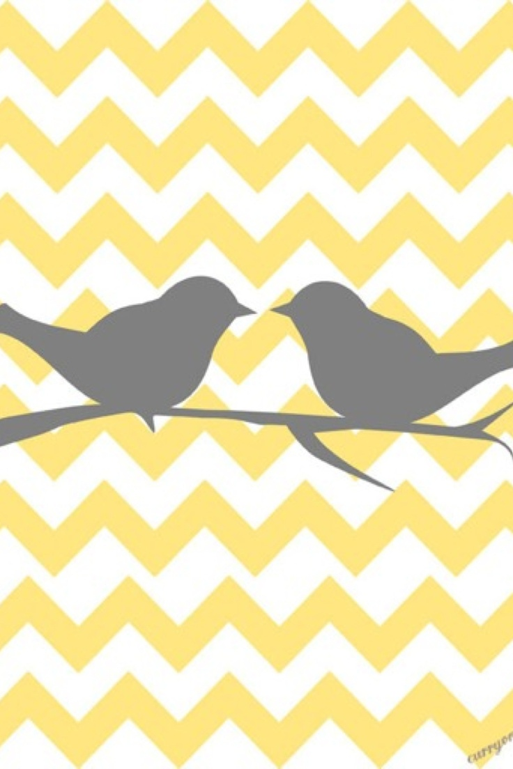 Teal Chevron Iphone Wallpaper Bird yellow and gray chevron so cute as 736x1104