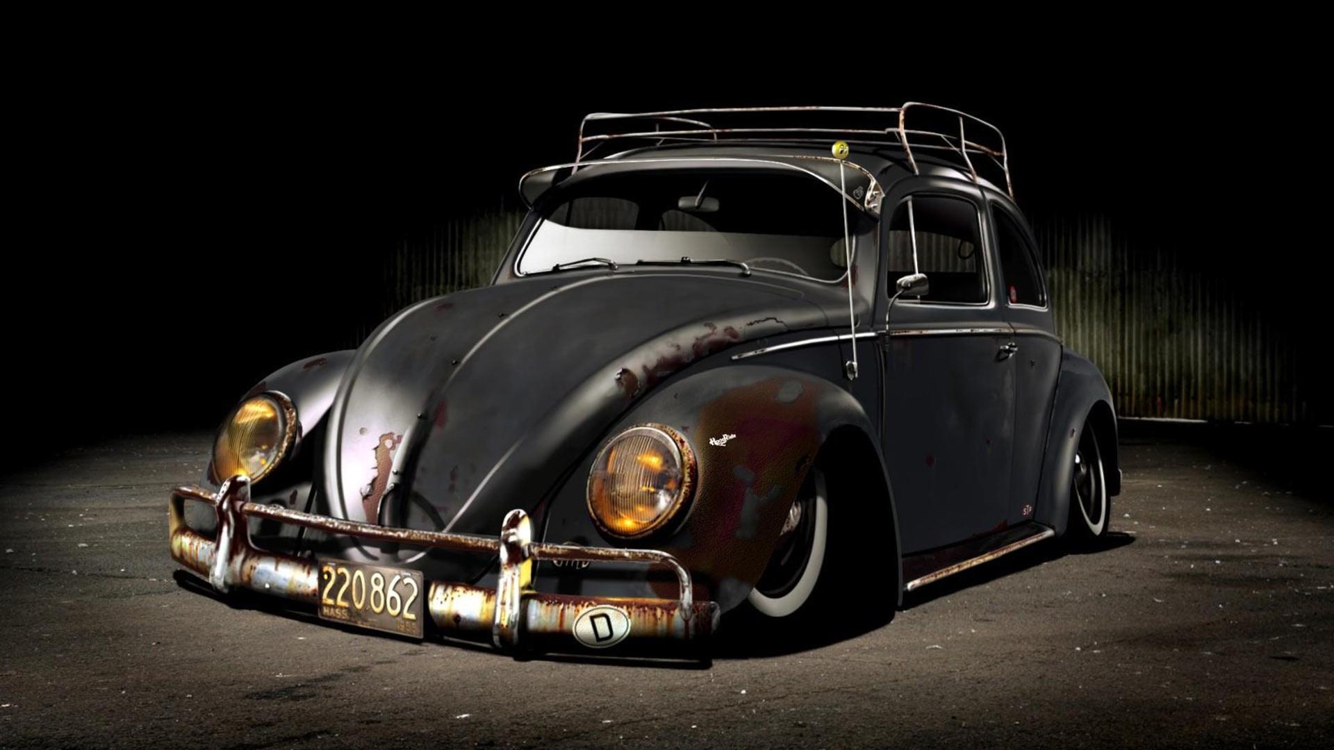 Rusty Volkswagen Beetle Wallpaper 6503 1920x1080