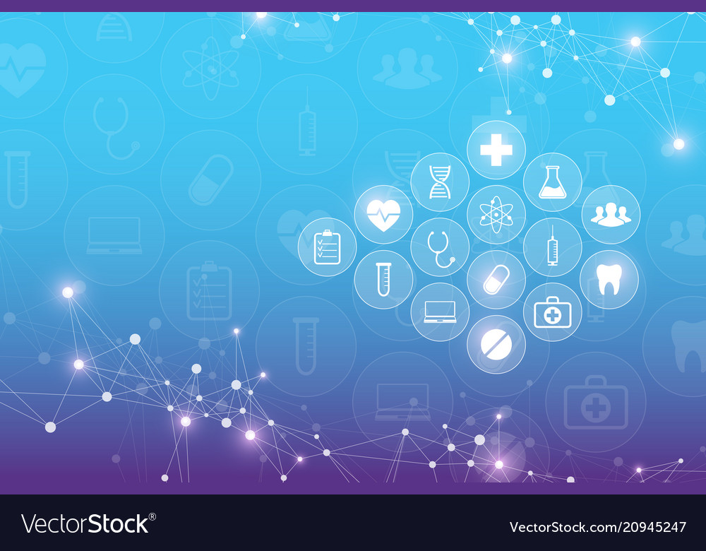 Abstract medical background with health care icons 1000x780