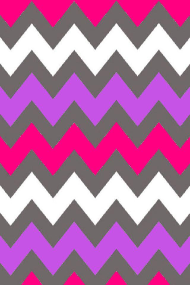 purple pink and white chevron wallpaper patternChevron Wallpaper 640x960