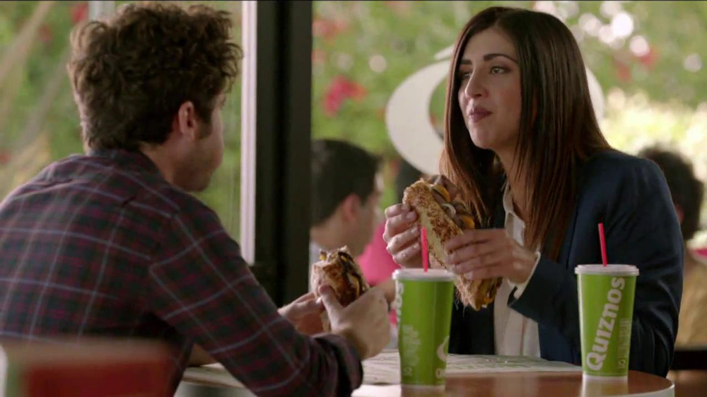 Quiznos Bourbon Steak Sub TV Commercial Floasted   iSpottv 1000x562
