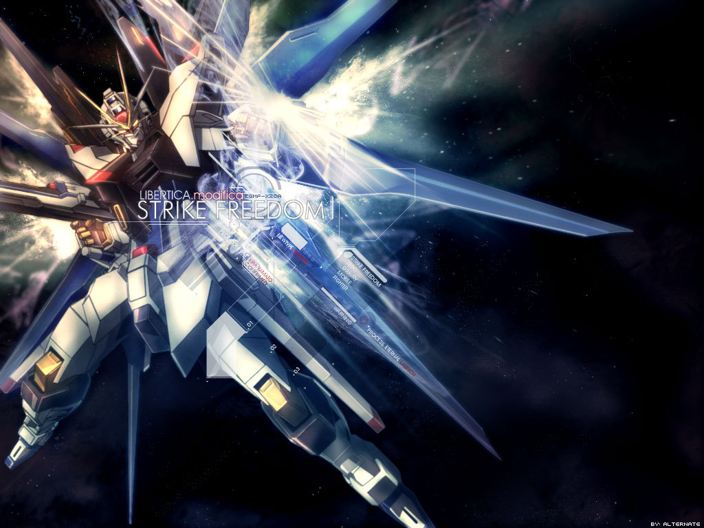 Strike Freedom Gundam Wallpaper Gundam Strike Freedom 1024x768