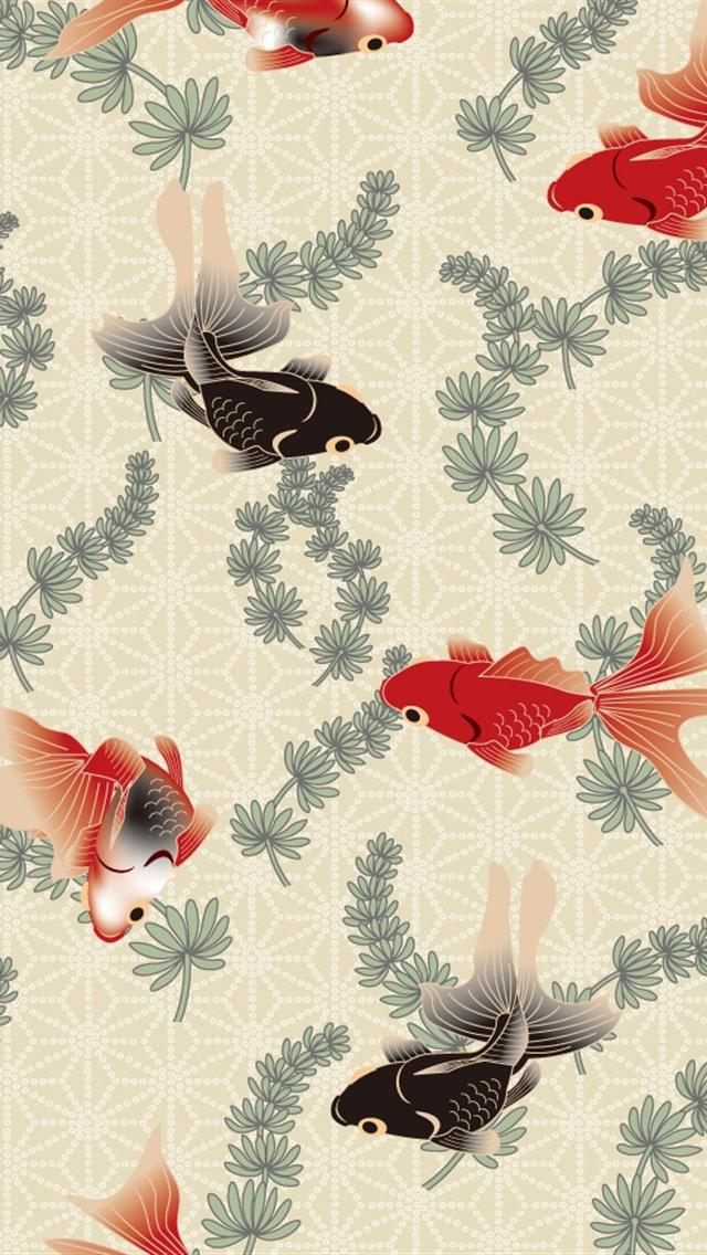 Free Download Fish Art Iphone 5 Wallpapers Hd 640x1136 Hd