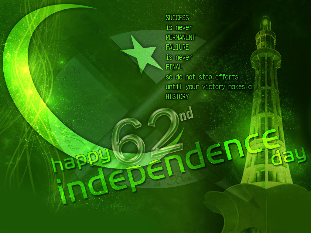 Happy Pakistan Independence Day 3d For Desktop HD Wallpaper 1024x768