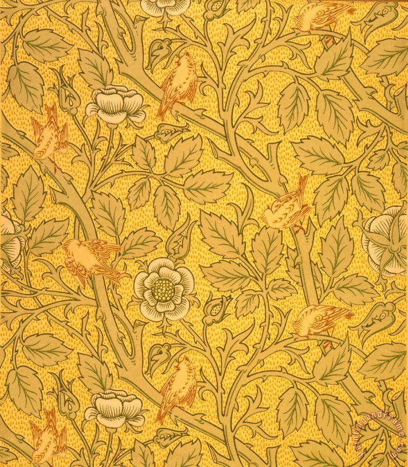 Bird Wallpaper Design painting   William Morris Bird Wallpaper Design 839x960