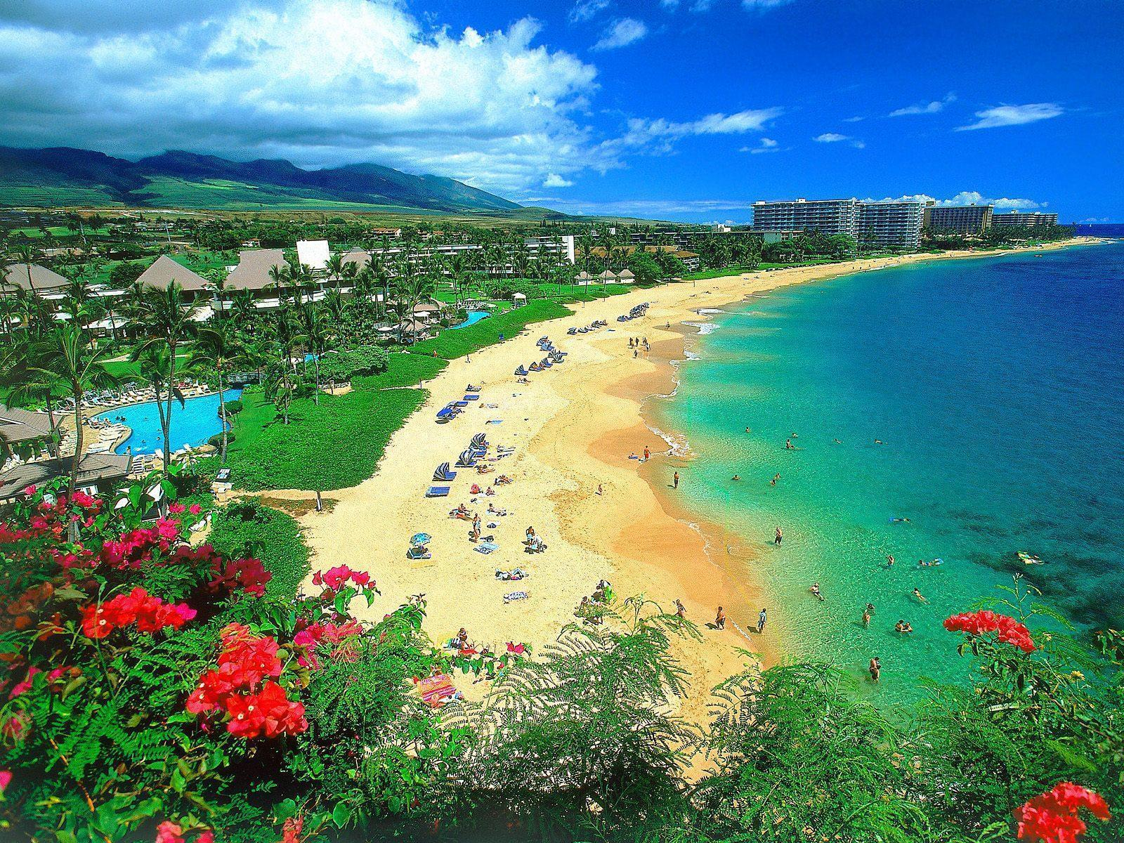Kaanapali Beach Maui Hawaii Desktop Background   Hawaii 1600x1200