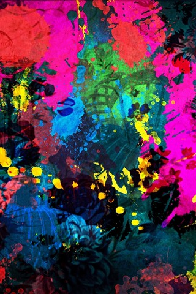 Watercolor Black Canvas iPhone Wallpaper HD iPhone Wallpaper 640x960