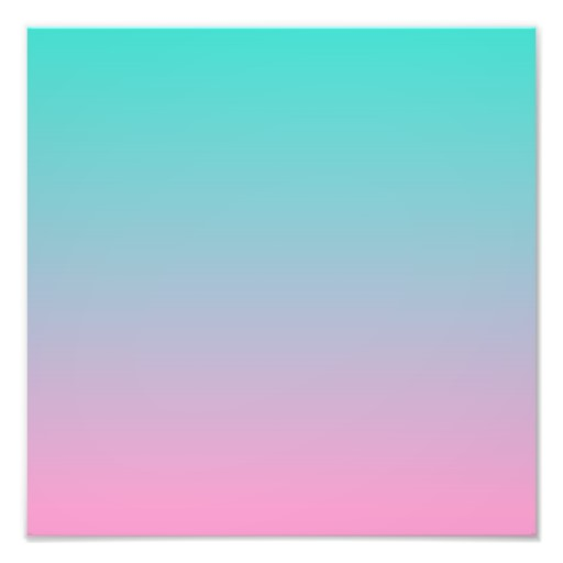 Turquoise Pink Ombre Photo Print Zazzle 512x512