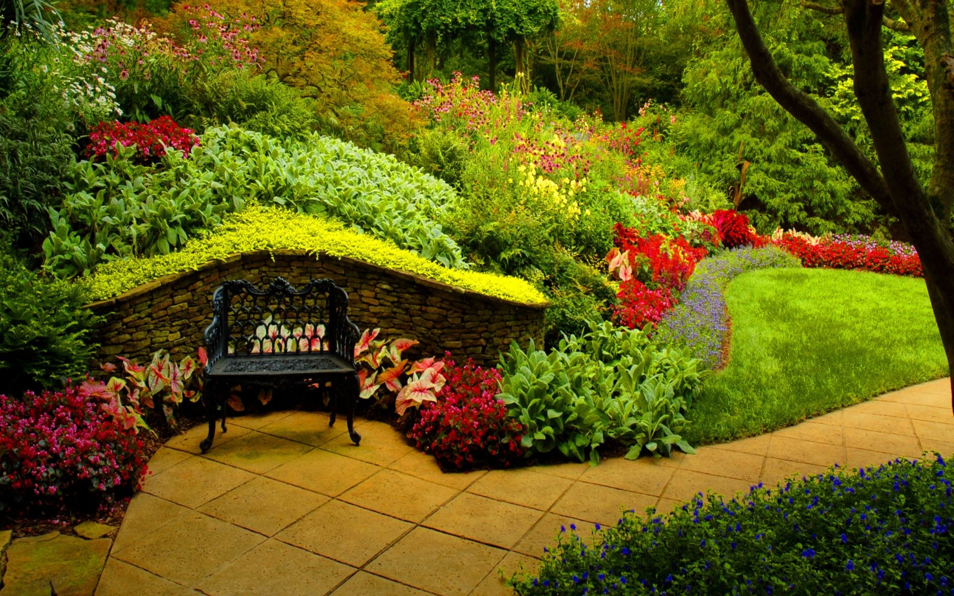 background images hd garden HD   Garden Wallpapers For Widescreen 1920x1200