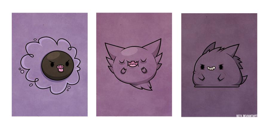 Ghost Pokemon by beyx 900x434