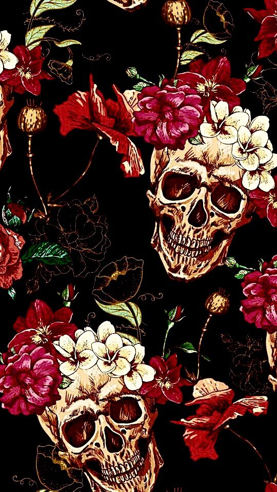 Pin by Ammie Asklund on My apple decor in 2019 Skull wallpaper 540x960