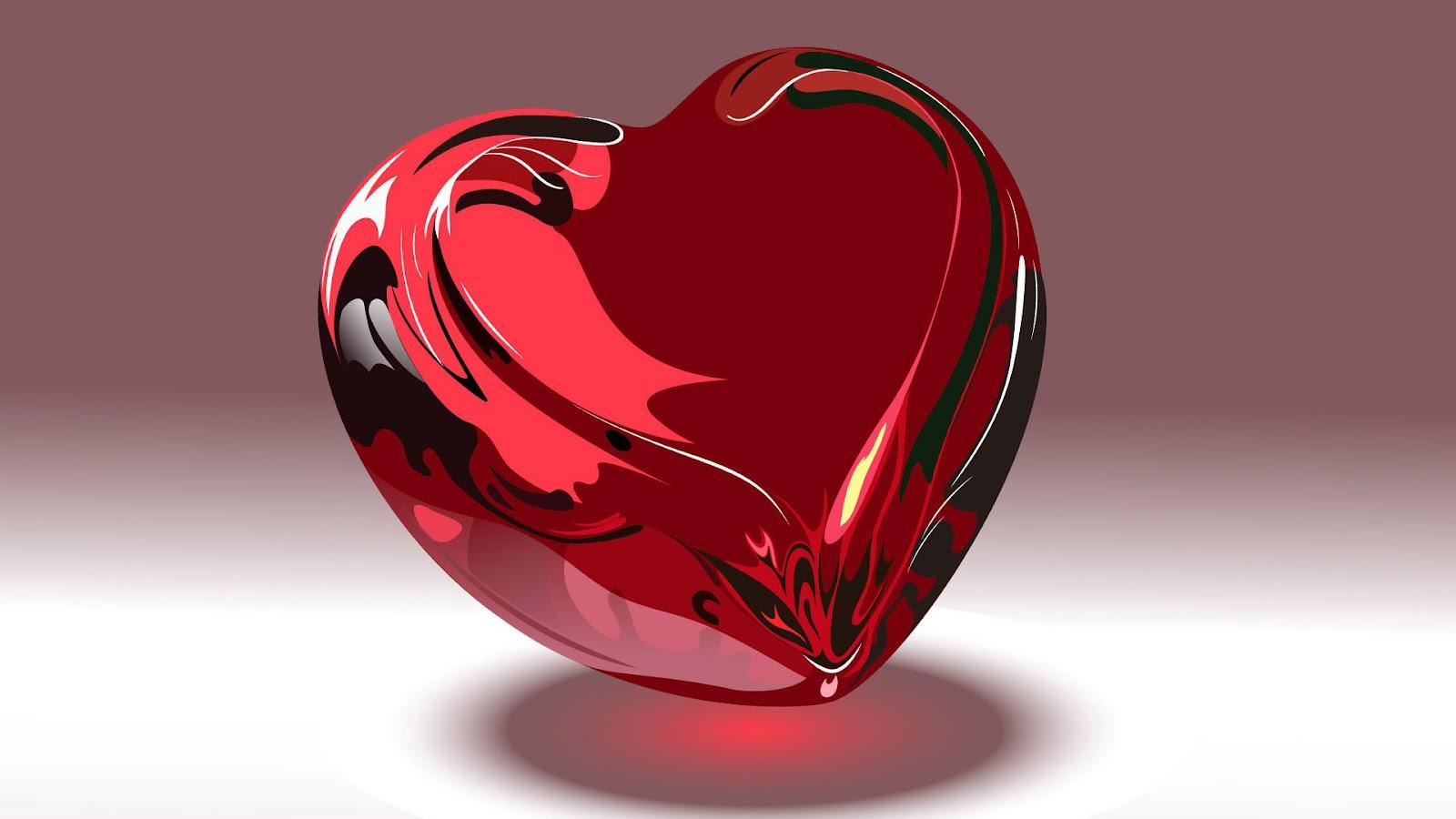 hd 3d liefde hart wallpaper met een groot rood liefdes hart in 3d 1600x900