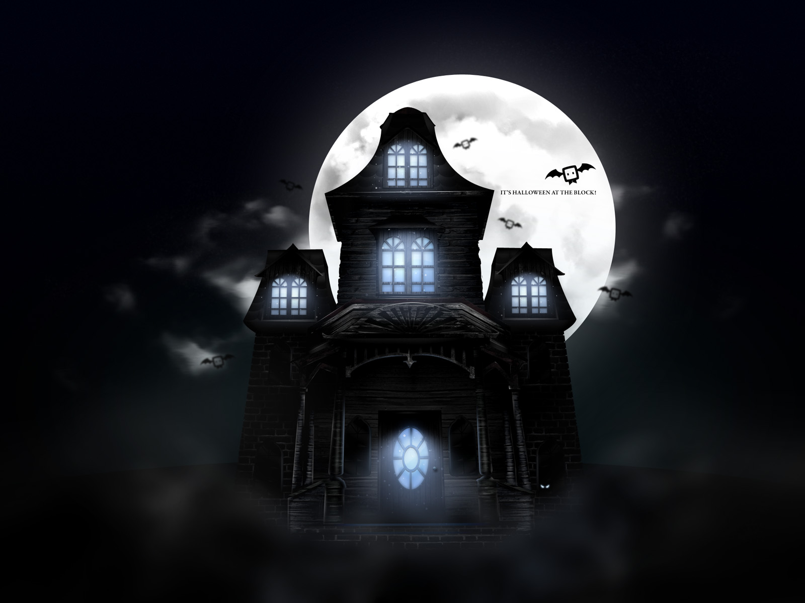 Wallpapers Pumpkins Witches Spider Web Bats Ghosts Collection 1600x1200