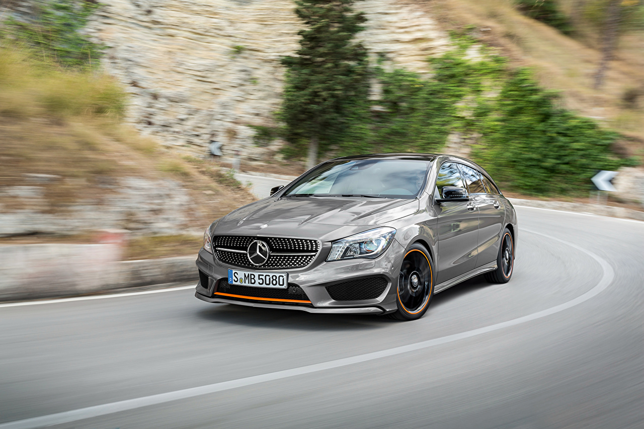 Wallpaper Mercedes Benz X117 CLA 4MATIC Shooting Brake AMG 1280x853
