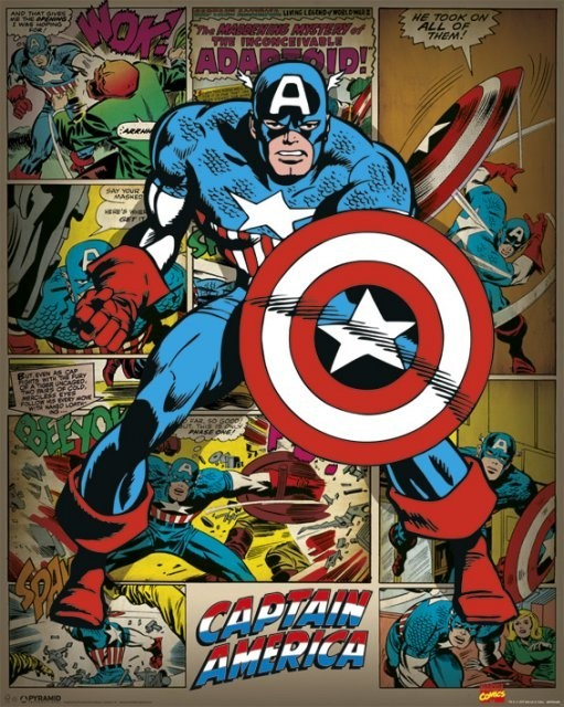 marvel comics captain america retro marvel comics captain america 511x640
