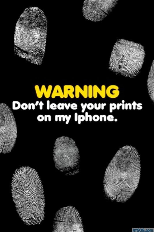 Funny iphone wallpapers background lock screens   fingerprint lock 533x800