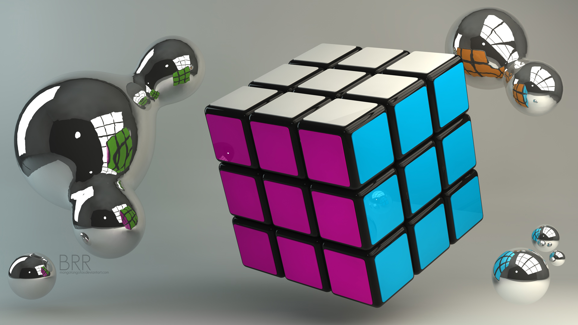 Thread 3D Rubiks Cube Wallpaper 1920x1080