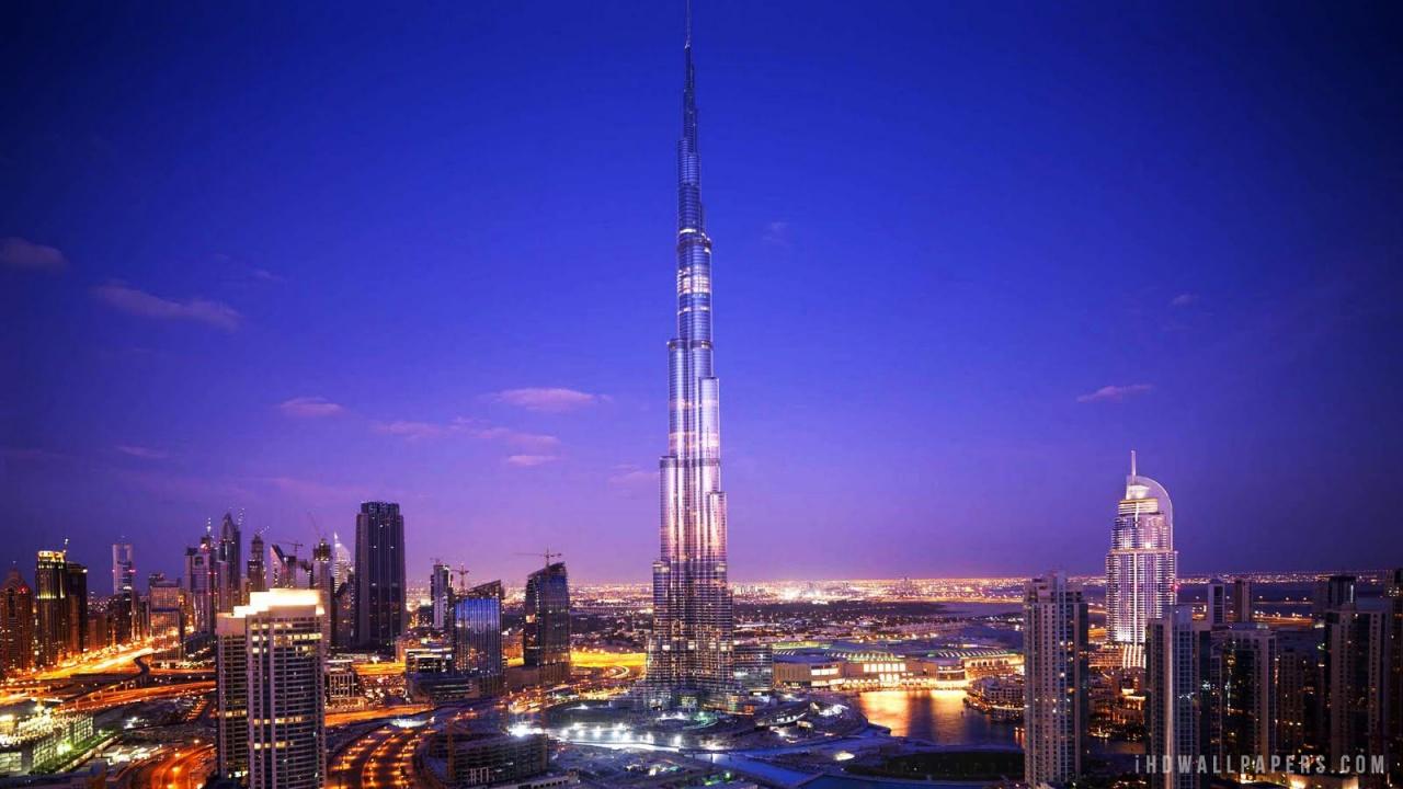 Burj Khalifa Dubai HD Wallpaper   iHD Wallpapers 1280x720