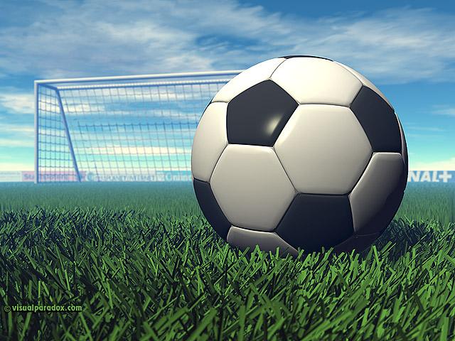 Paradox 3D Wallpaper Soccer Ball multiple wallpaper sizes 640x480