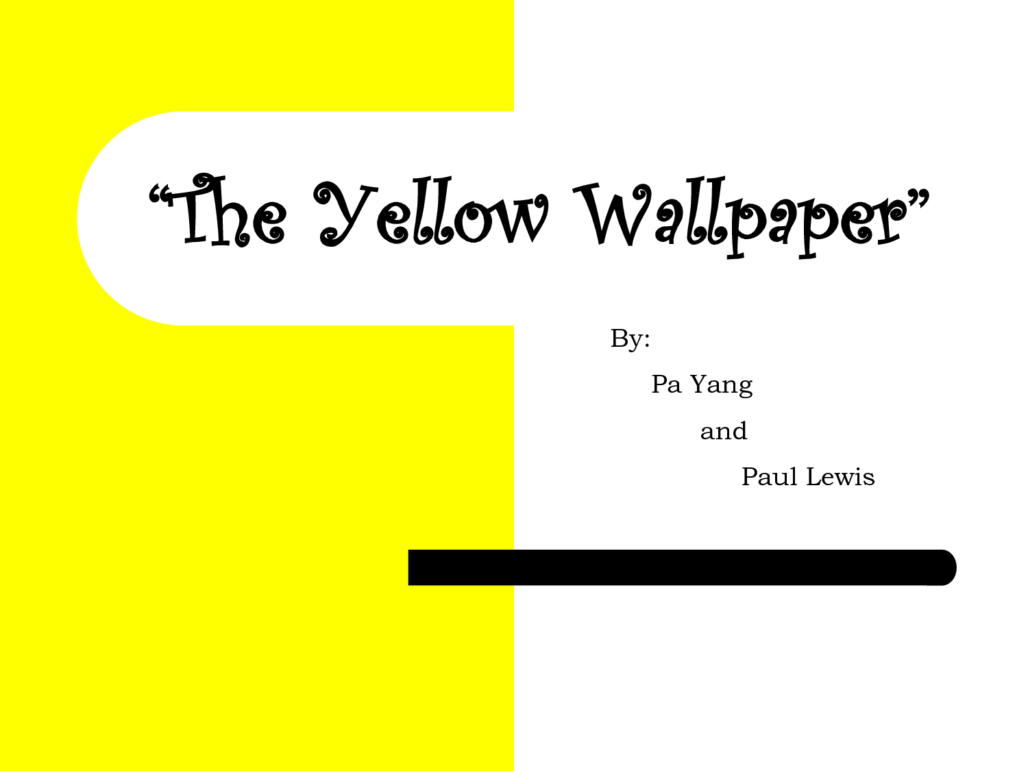 the yellow wallpaper essay As she becomes more fanatical with the wallpaper, we see her repulsion of it turn into an overexcited image of her perplexing and dizzying fall.