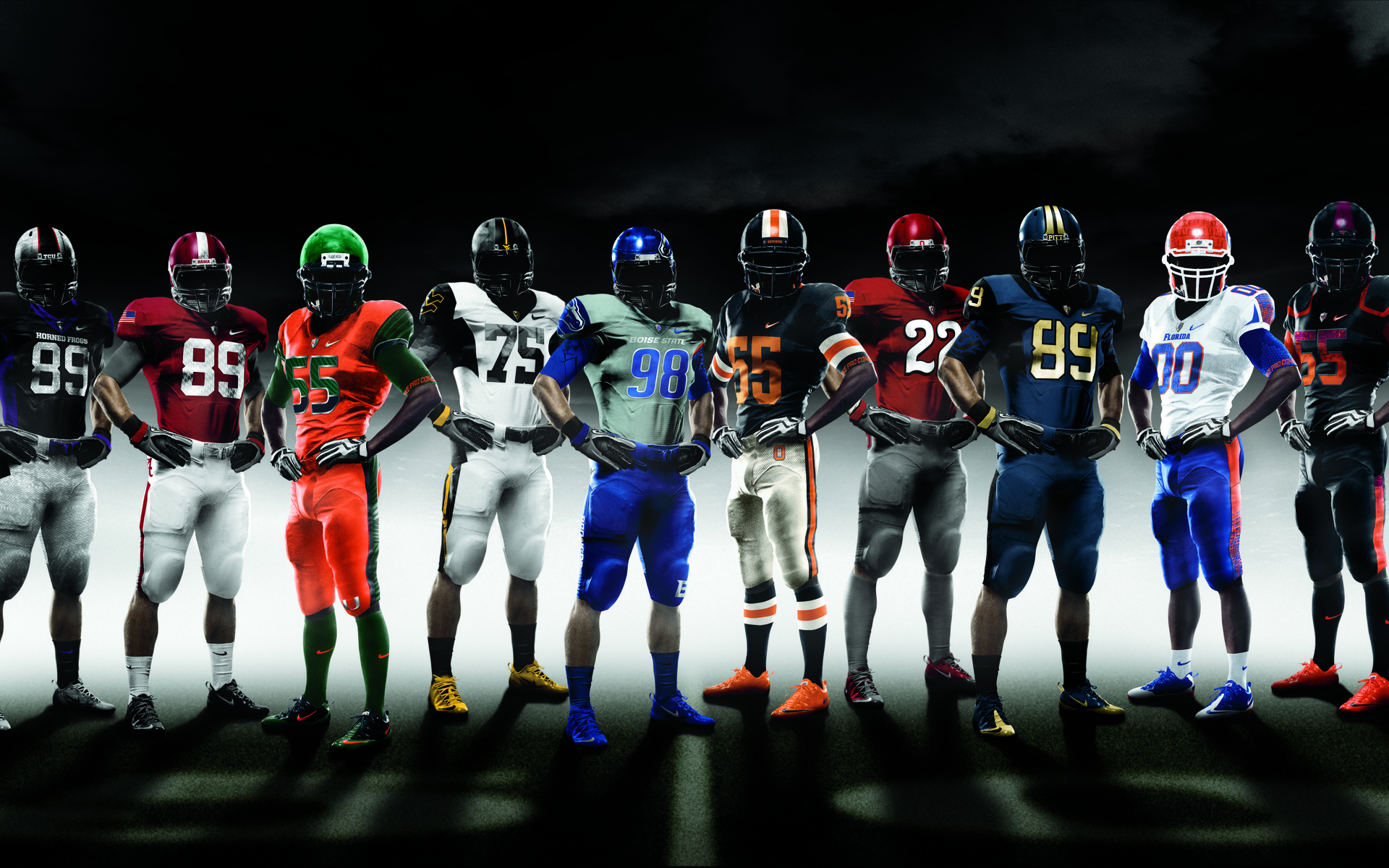 College Football Wallpaper NCAA Nike Pro combat in 2010 1920x1200