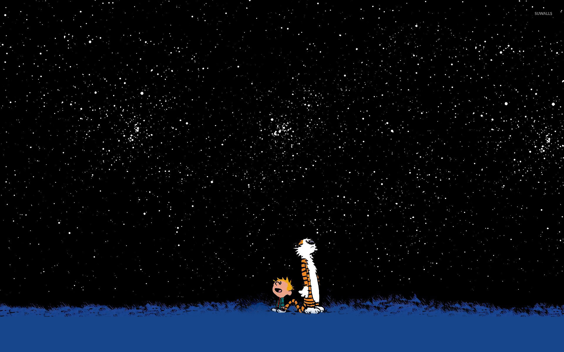 Calvin and Hobbes wallpaper   Comic wallpapers   14352 1366x768