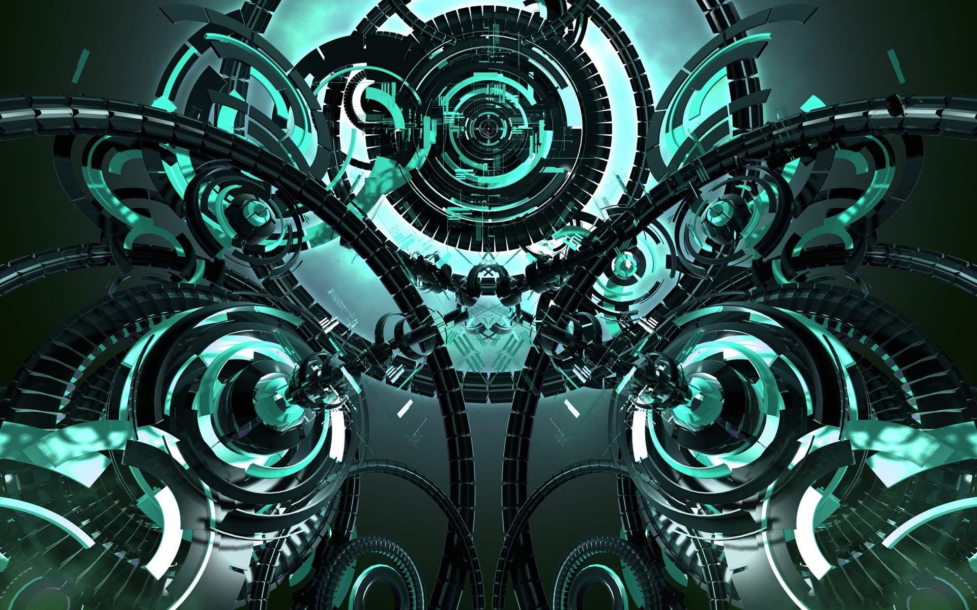 abstract Futuristic Technology Mechanism Wallpapers HD 1920x1200