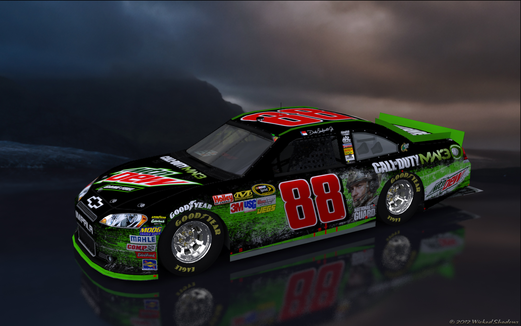 Wallpapers By Wicked Shadows Dale Earnhardt Jr Mountain Dew COD MW3 2000x1252