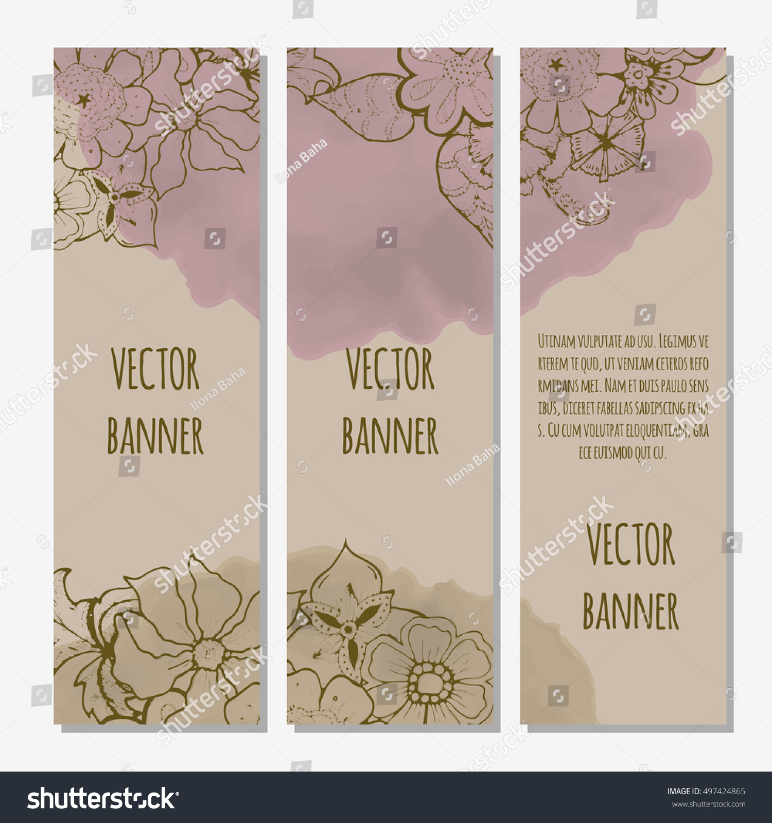 Ornate Floral Flyer Flowers Doodle Sharpie Stock Vector Royalty 1500x1600