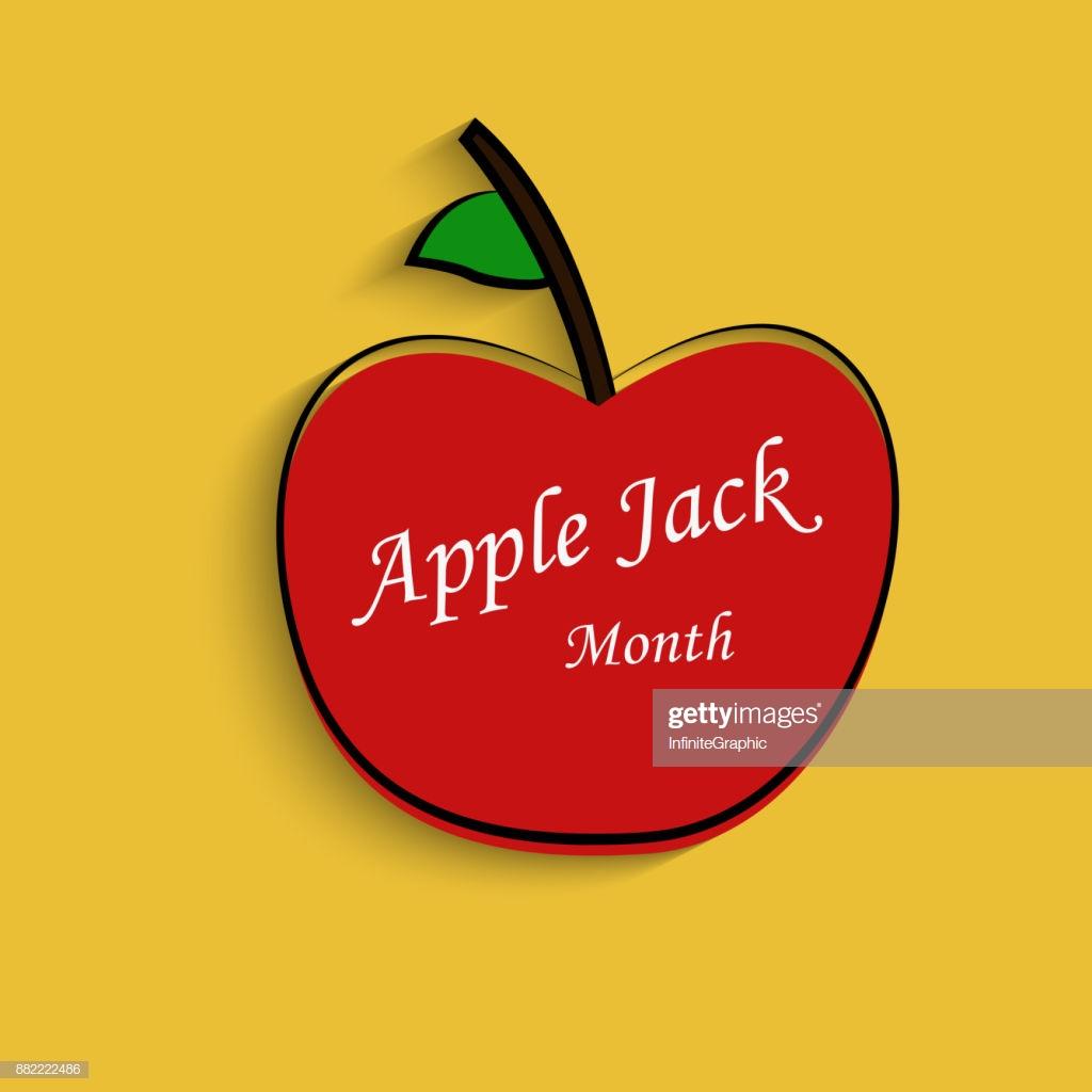 Illustration Of Applejack Month Background Stock Illustration 1024x1024