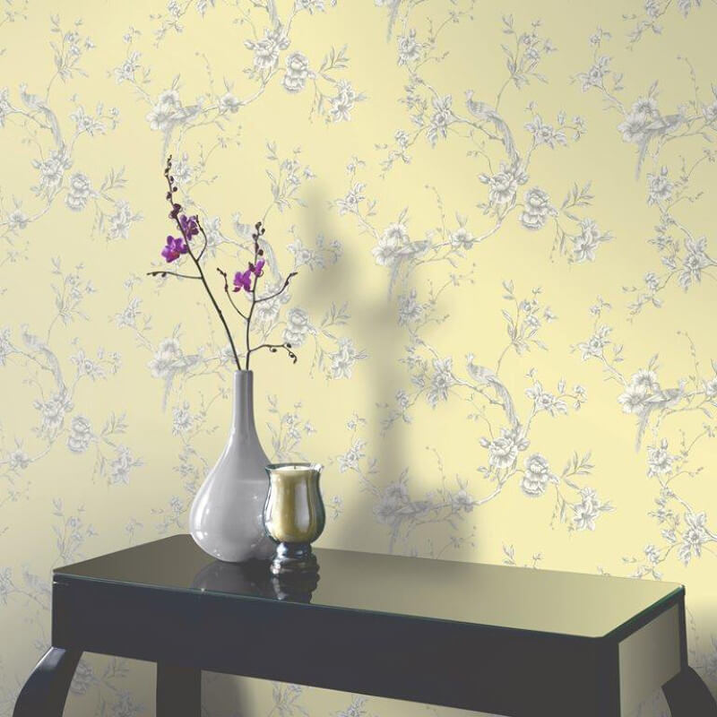 Arthouse Chinoise Wallpaper in Yellow 422804 800x800
