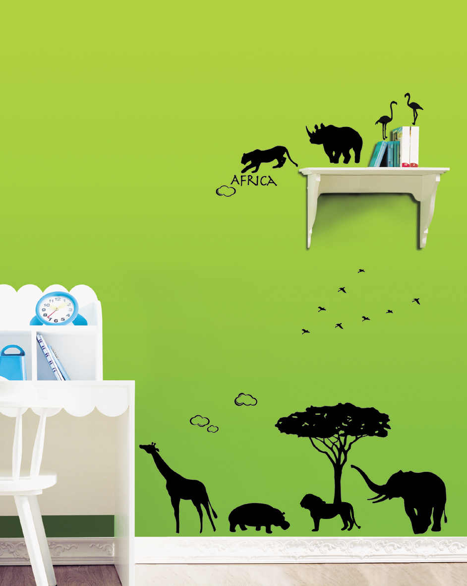 This Africa wall stickers for nursery will make an enchanting addition 942x1181