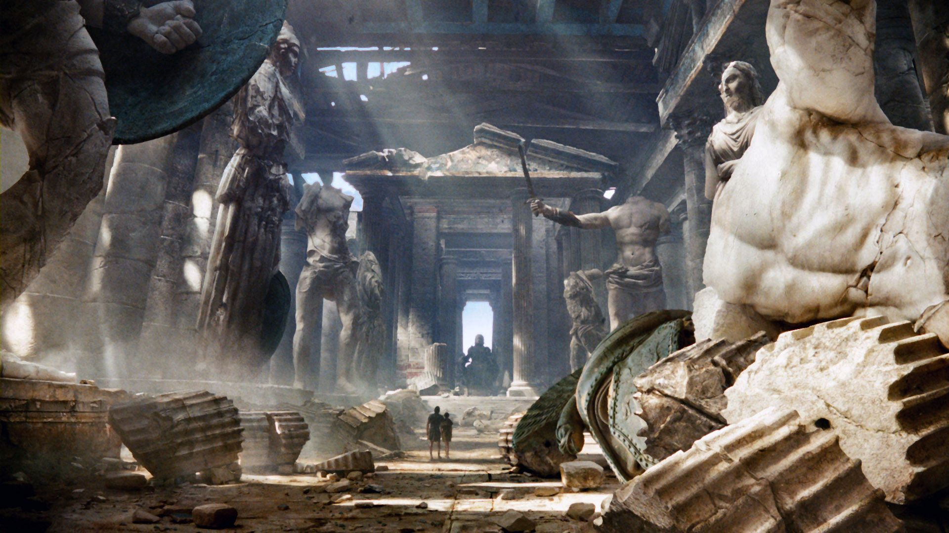 The statue of Zeus at Olympia Wallpapers High Quality Download 1920x1080