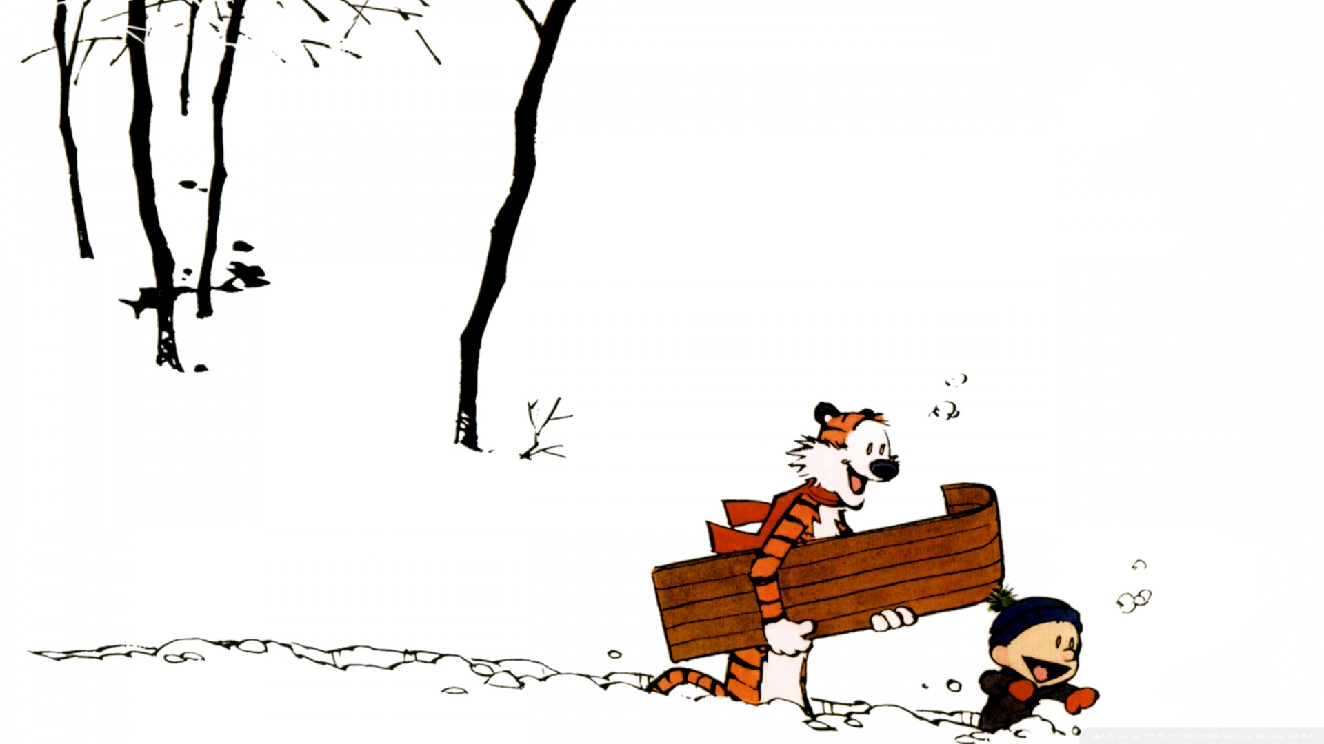 Calvin And Hobbes Winter Wallpaper 1920x1080 Calvin And Hobbes 1920x1080
