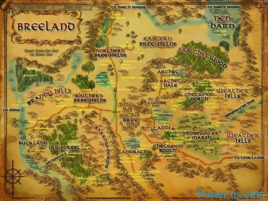 Lord Of The Rings Map Wallpapers 1024x768