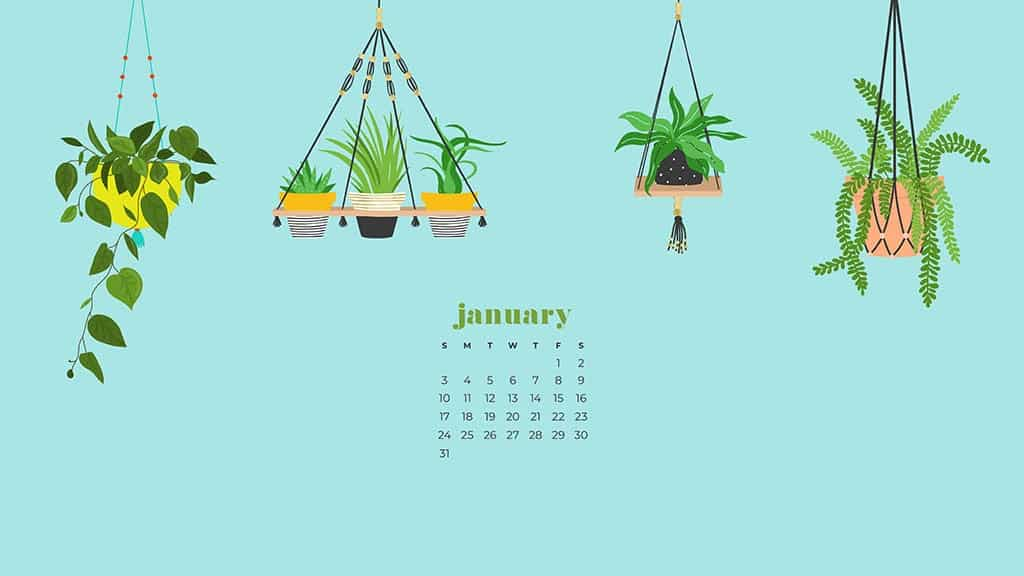 January 2021 calendar wallpapers 30 FREE designs to choose from 1024x576