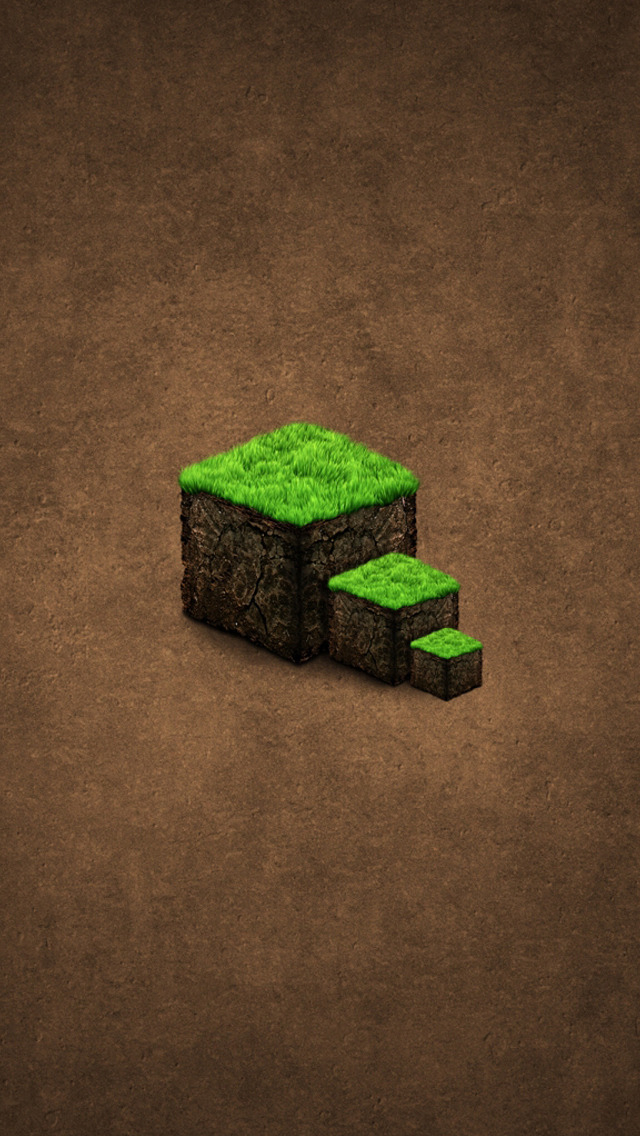 Minecraft game iPhone 5 Wallpapers 640x1136
