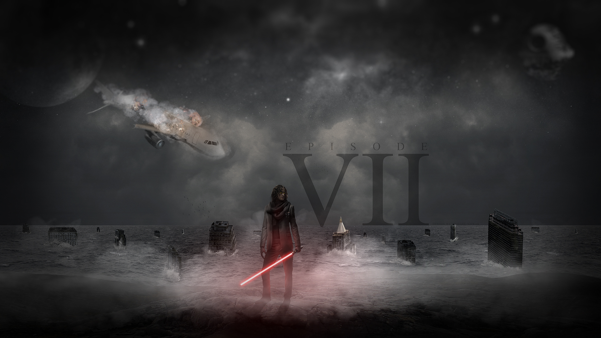 Star Wars Episode VII   my vision   wallpaper by MichalNowak on 1920x1080