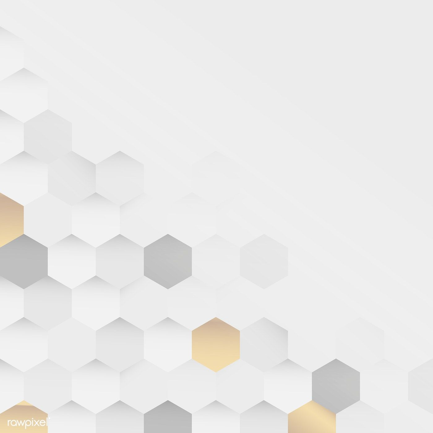 White and gold hexagon pattern background vector premium image 1400x1400