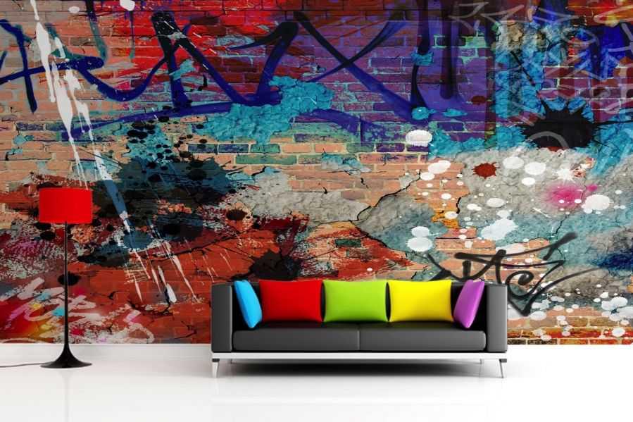 Graffiti Wallpaper Wall Mural Muralswallpaper 4588 Art Graffiti 899x599