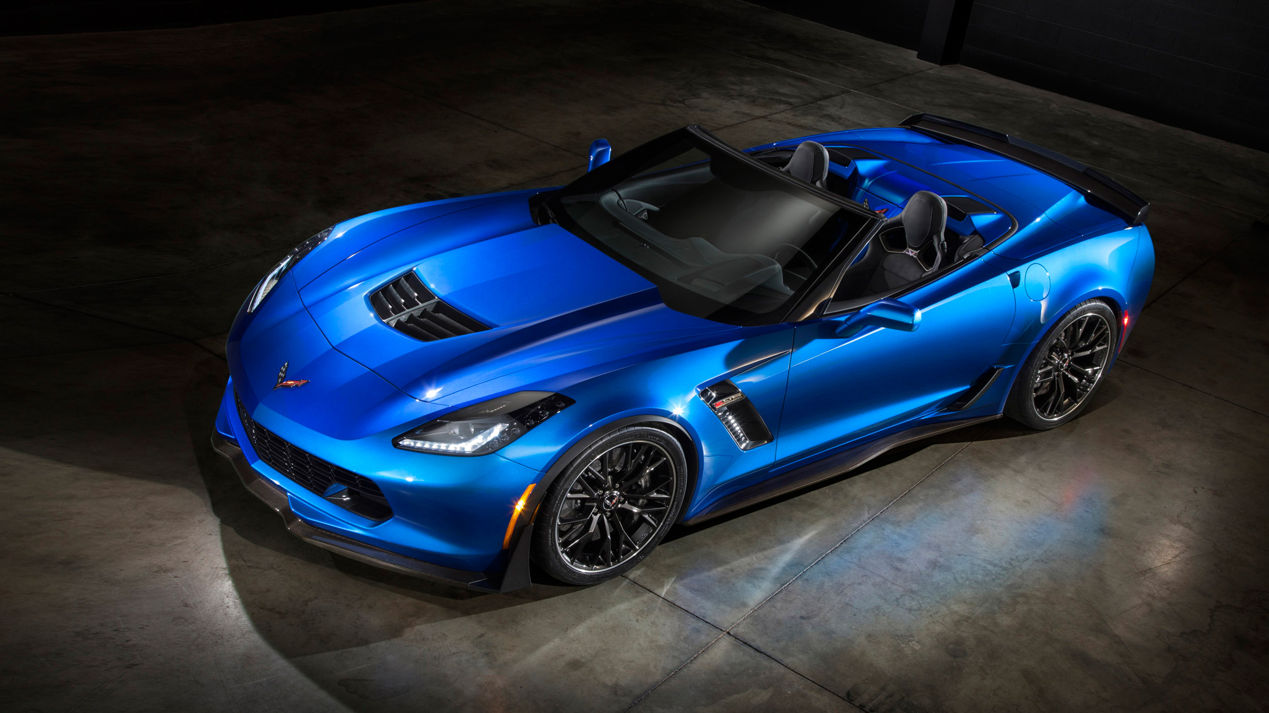 Chevrolet Corvette Z06 Convertible 2015 Wallpaper HD Car Wallpapers 2560x1440