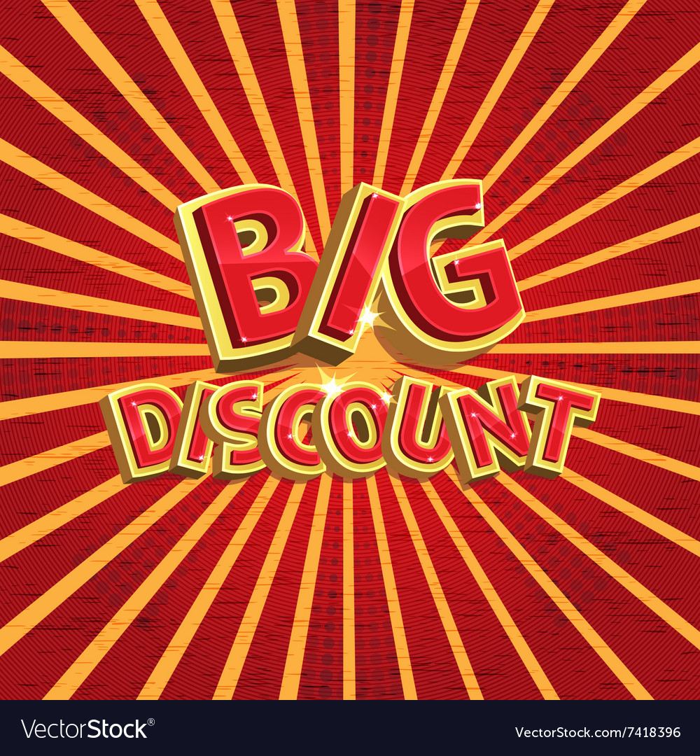 Red discount background Royalty Vector Image 1000x1080