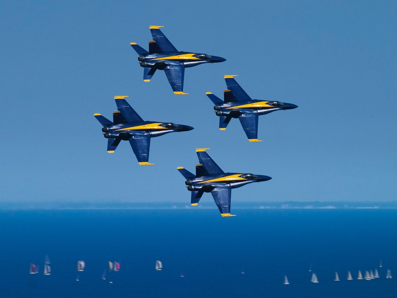Blue Angels Above Lake Michigan Chicago Illinois 1600x1200
